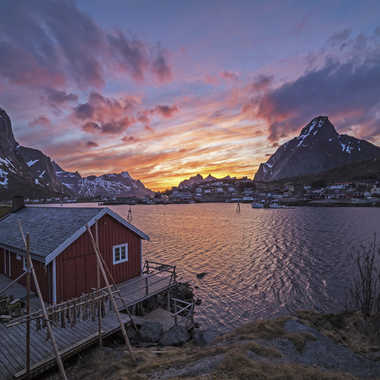 Sunset aux Lofoten par Michel06