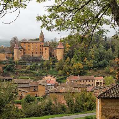 Village du Beaujolais,Jarnioux et son château par patrick69220