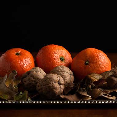 Mandarines et Noix par Buissem