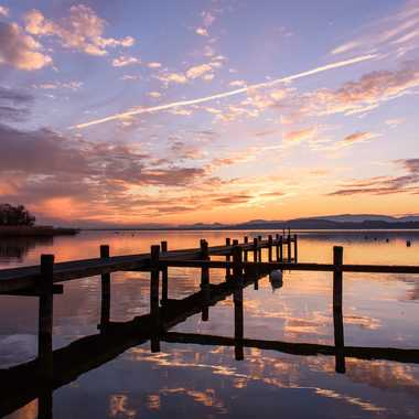 Lac de Morat - coucher du soleil par Andrea_Zehnder