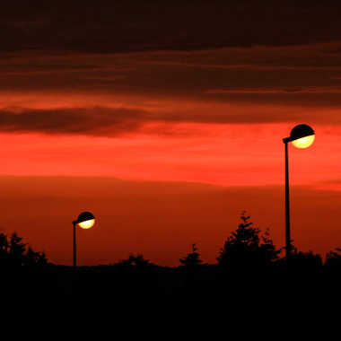 Soleil du jour coucher soleils de la nuit allumés par brj01