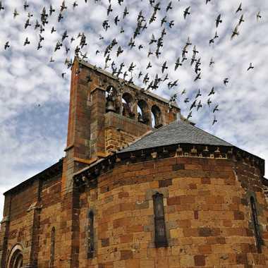 Eglise de Andelat ( Cantal ) par Faugere