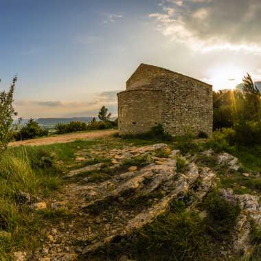 chapelle au soleil couchant par Dav.sv