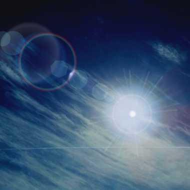 soleil et nuages un avion pour souligner par brj01