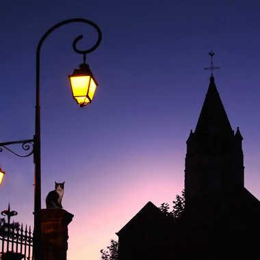 Un soir place de l'Eglise par Aurimec