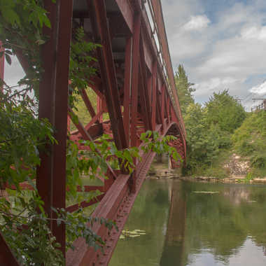 Un bon vieux pont de fer par Philipounien