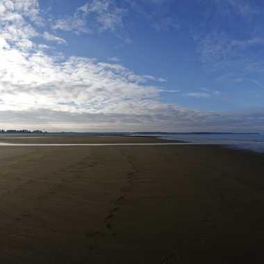 La plage à marée basse par Jerome Rabille