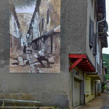 Fresque Murale a Durfort par Buissem