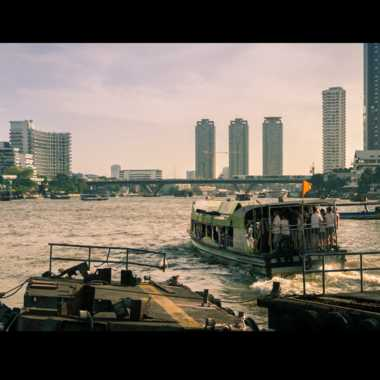 Bangkok transport commun sur la Chao Phraya par patrick69220