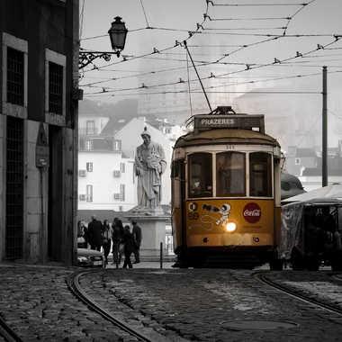 Vieux tramway de Lisbonne par Jeanjean