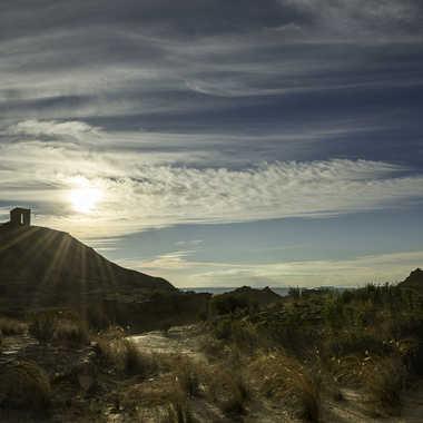Crépuscule, Las Bardenas par Colybri