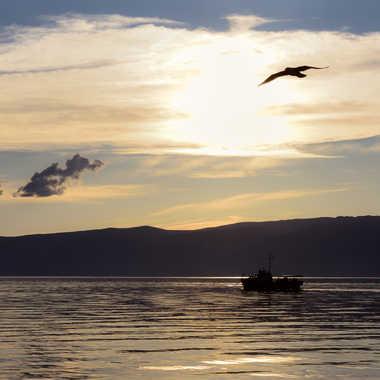 Crépuscule sur le Baïkal par Colybri