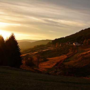 Fin de journée en Ardèche par mamichat