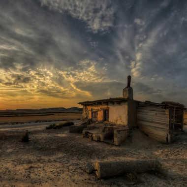 Crépuscule aux Bardenas par jpdvg
