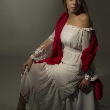 Foulard rouge par Yves B