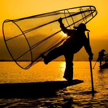 Pêcheur équilibriste par Olivier Pace