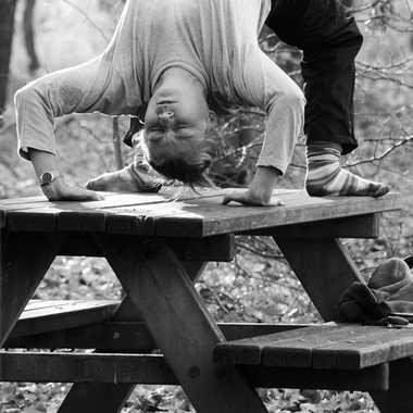 Yoga en forêt par mamichat