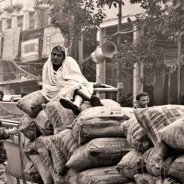 Marché au épice de Old Delhi par patrick69220