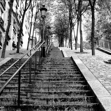 Les escaliers de Montmartre par Francis41