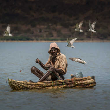 Pêcheur kenyan par patouphoto