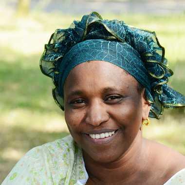 Femme au turban vert par mamichat