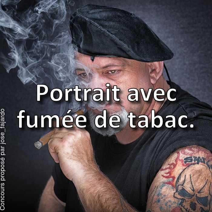 Concours Photo - Portrait avec fumée de tabac.