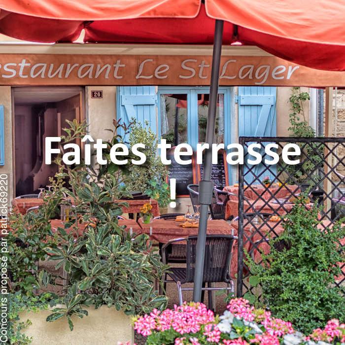 Concours Photo - Faîtes terrasse !