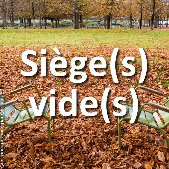 Concours Photo - Siège(s) vide(s)