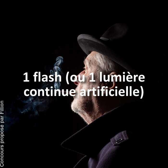 Concours Photo - 1 flash (ou 1 lumière continue artificielle)