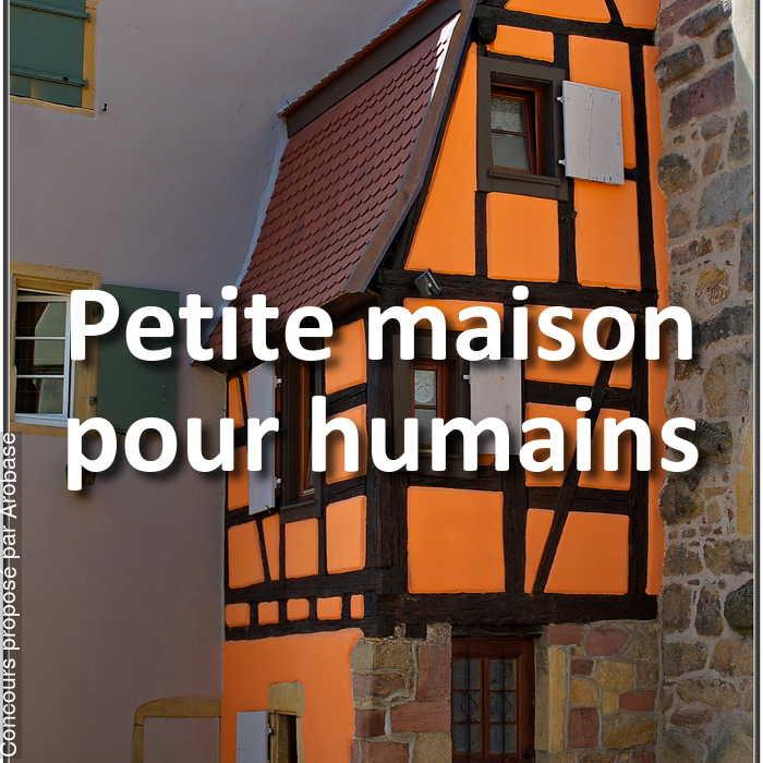 Concours Photo - Petite maison pour humains