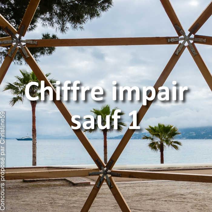 Concours Photo - Chiffre impair sauf 1