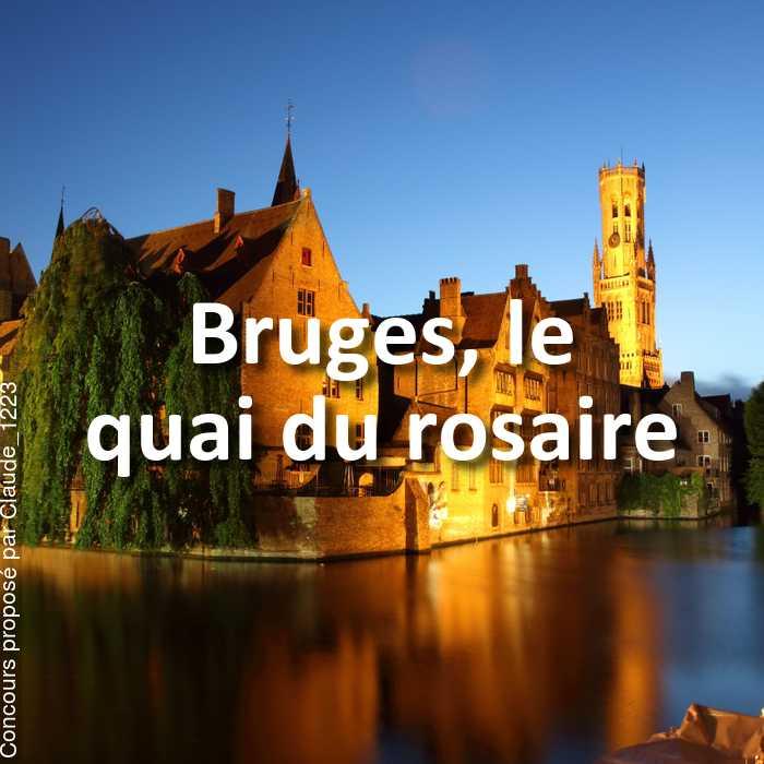 Concours Photo - Bruges annulé
