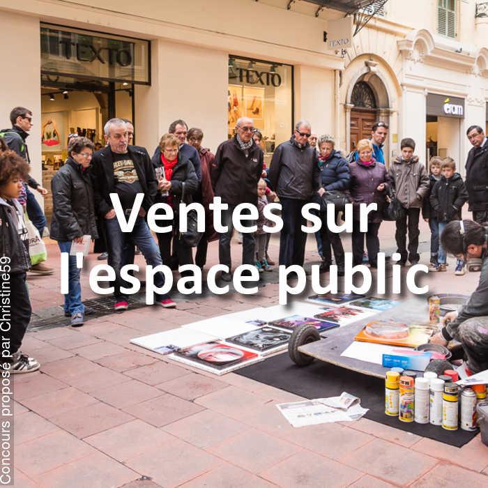 Concours Photo - Ventes sur l'espace public
